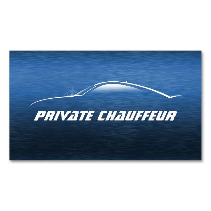 Auto Car Private Chauffeur Driver Appointment Card Zazzle Com Chauffeur Driver Card Chauffeur Driver
