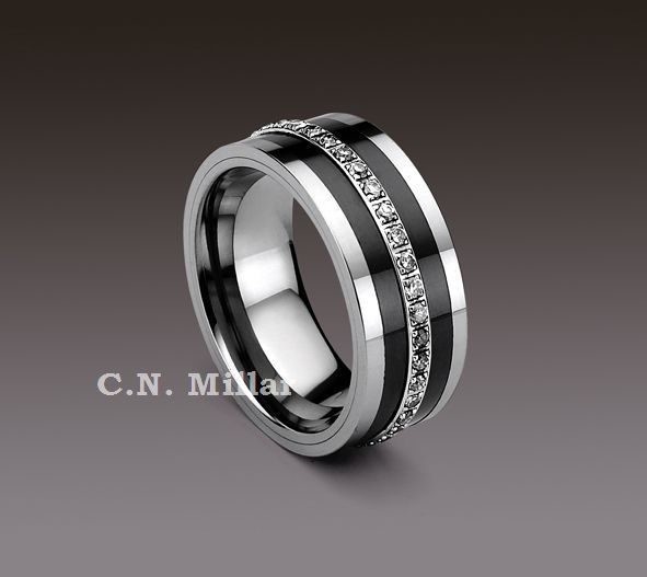 Tungsten Carbide Rings With Black Diamonds Eternity Tungsten Carbide Ring Crtu249jb Wedding Rings Mens Wedding Rings Wedding Ring Bands