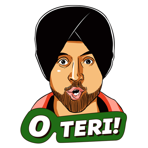 Diljit Dosanjh Stickers Now On Line Fun Quotes Funny Diljit Dosanjh Funky Quotes