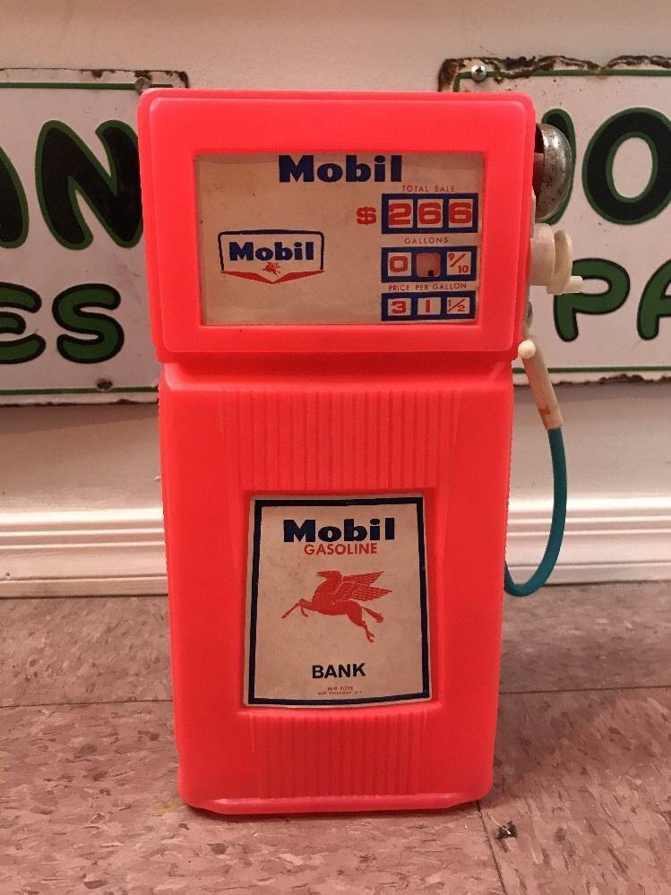 Vintage Mobil Pegasus Gas Pump Bank H G Toys Hgtoys Gas Pumps