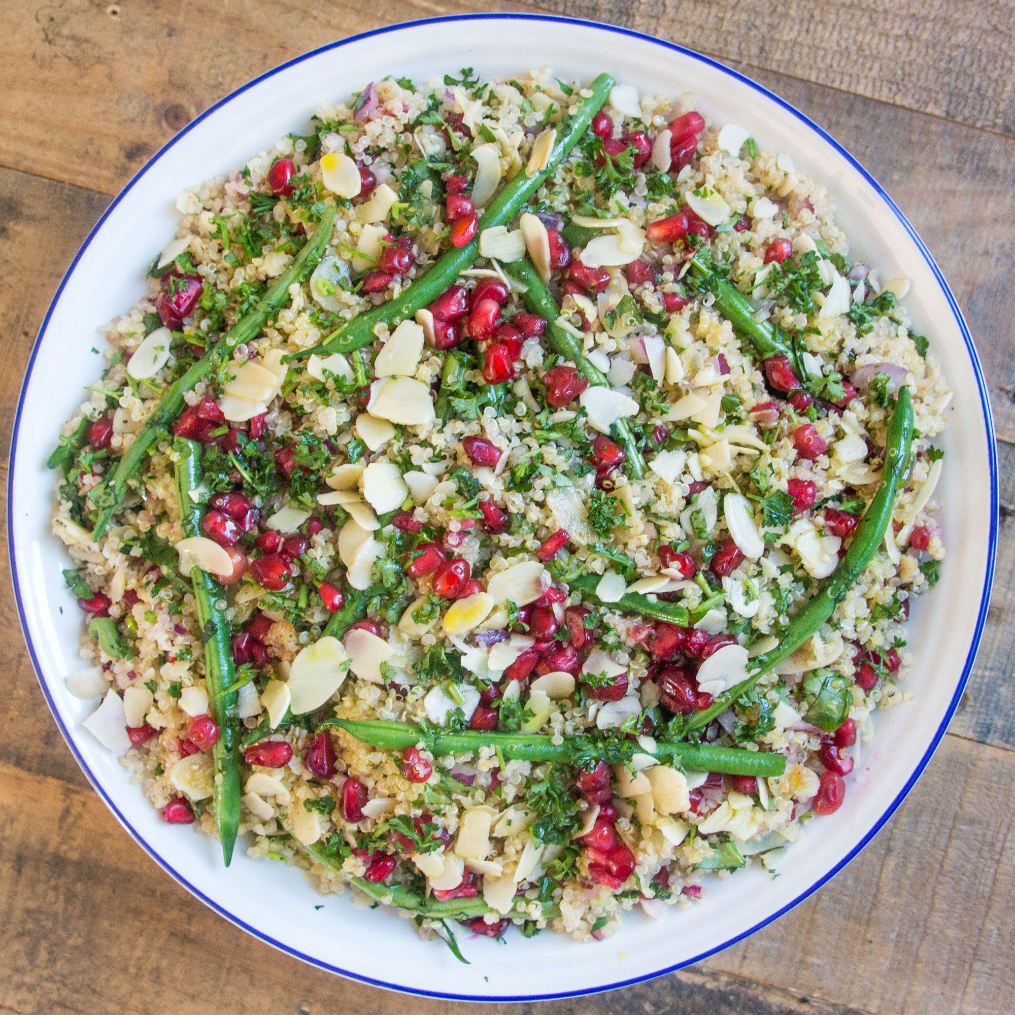 Jewelled Quinoa Salad with Lemon Tahini Dressing   DeliciouslyElla ...