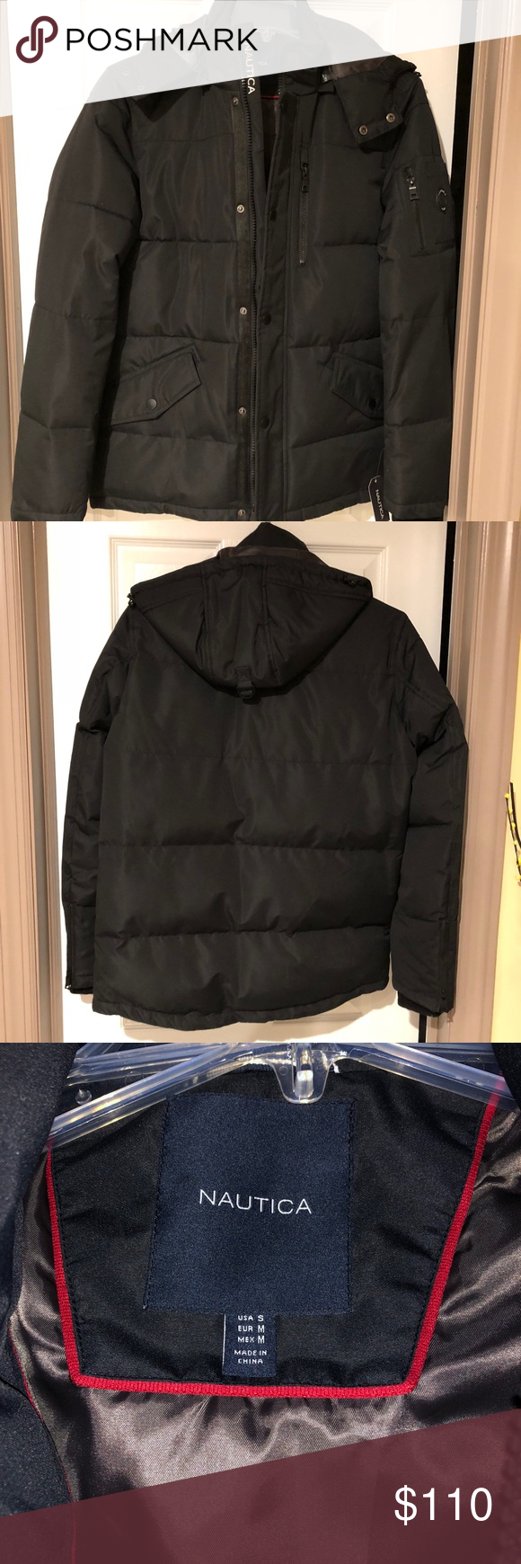 Men S Nautica Puffer Jacket W Detachable Hood Brand New With Tags This Jacket Is Sure To Keep You Warm This Winter It Clothes Design Detachable Hood Clothes [ 1740 x 580 Pixel ]
