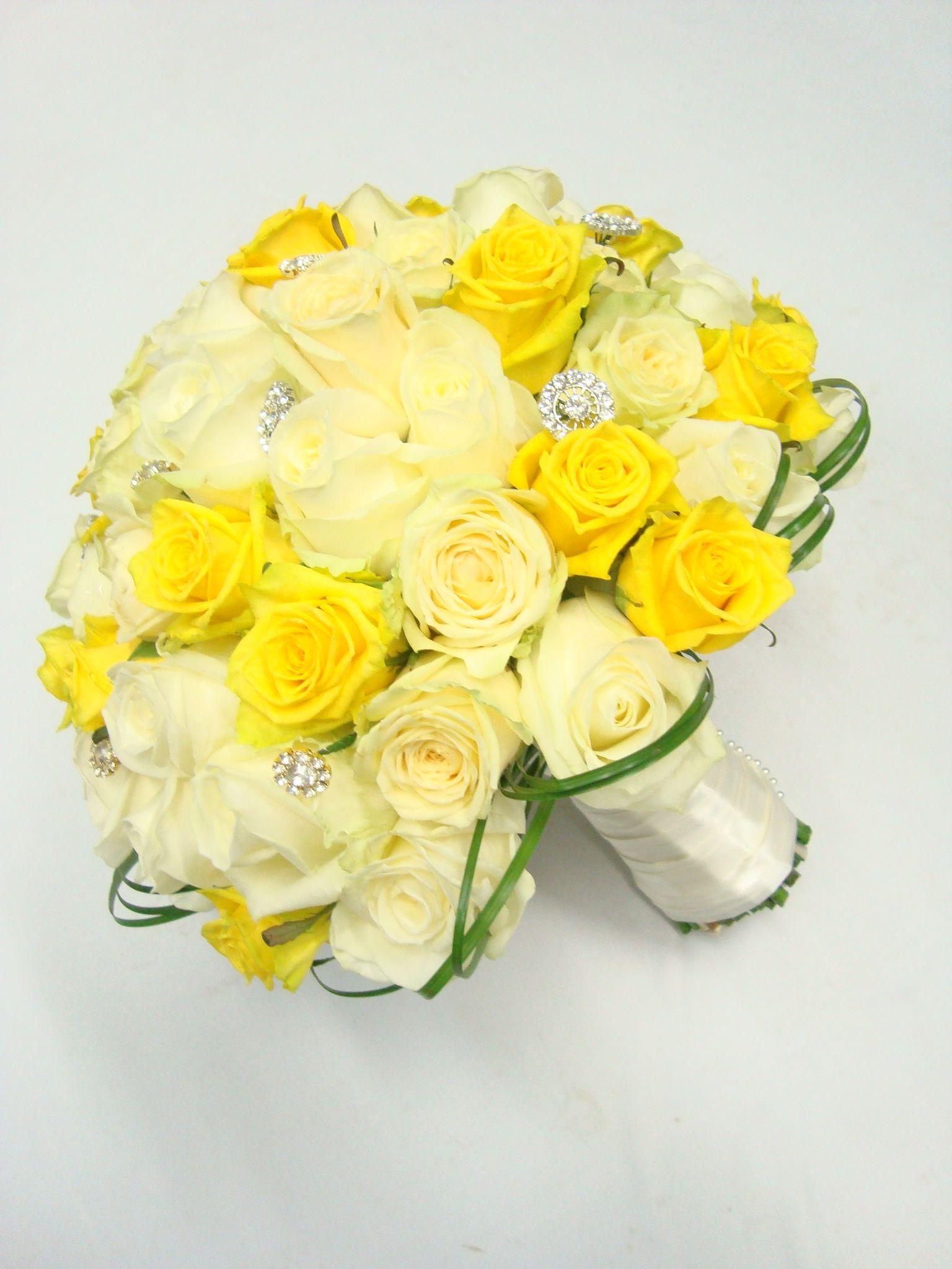 Yellow And Lemon Rose Bridal Bouquet Yellow Wedding Flowers