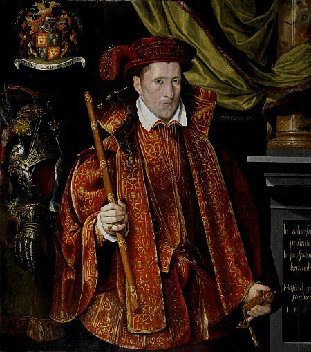 1570s Attributed to Adrian Vanson - George, 5th Lord Seton, aged 27