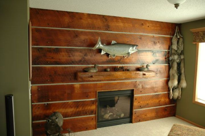 Rustic wood wall coverings wall covering 5 ideas for for Wallcovering ideas