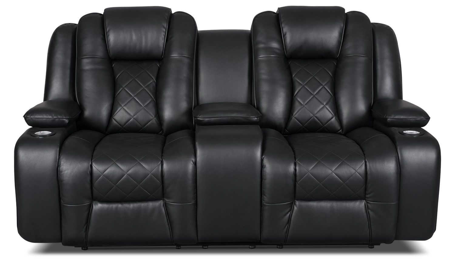 Swell Living Room Furniture Lonzo Leather Look Fabric Power Spiritservingveterans Wood Chair Design Ideas Spiritservingveteransorg