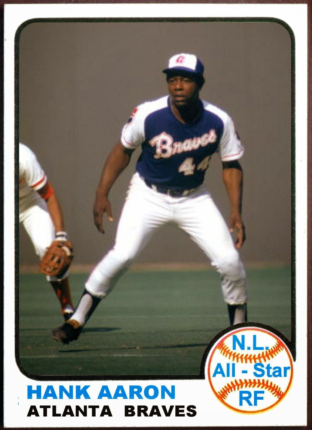 1973 Topps Hank Aaron All Star Baseball Cards That Never
