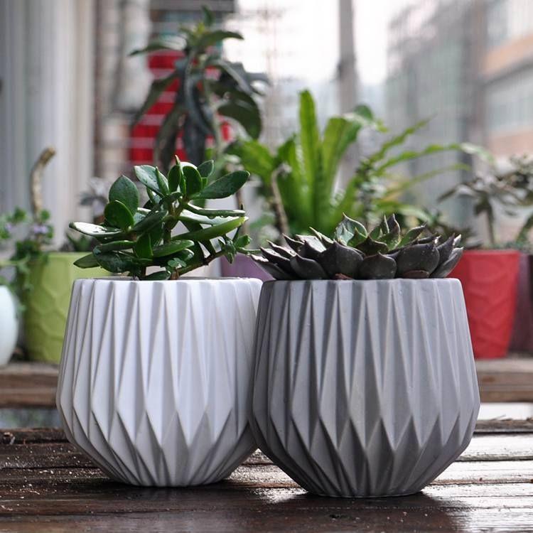 Modern Decoration Ceramic Indoor Plant Pot Flower Pot Home Decoration 2  Pieces / Set