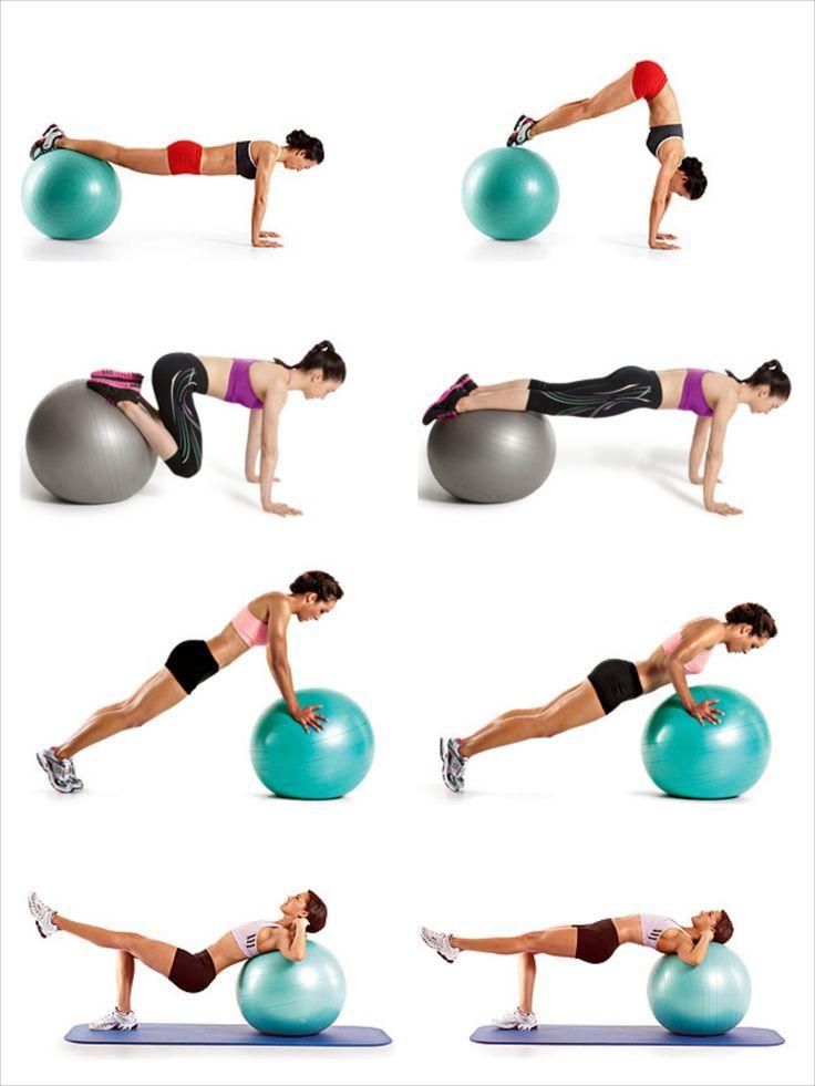 Gymnastikball Übungen - Abnehmen geht damit deutlich leichter #workoutexercises