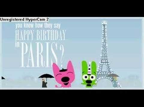 Hoops Yoyo How Do You Say Happy Birthday In France Hoops And Yoyo Funny Happy Birthday Song Happy Birthday Song