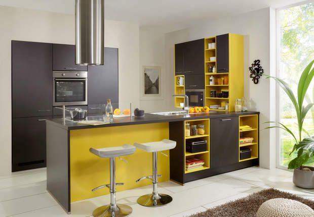 meubles de cuisine en couleur cuisine pinterest couleur chocolat couleur tendance et. Black Bedroom Furniture Sets. Home Design Ideas