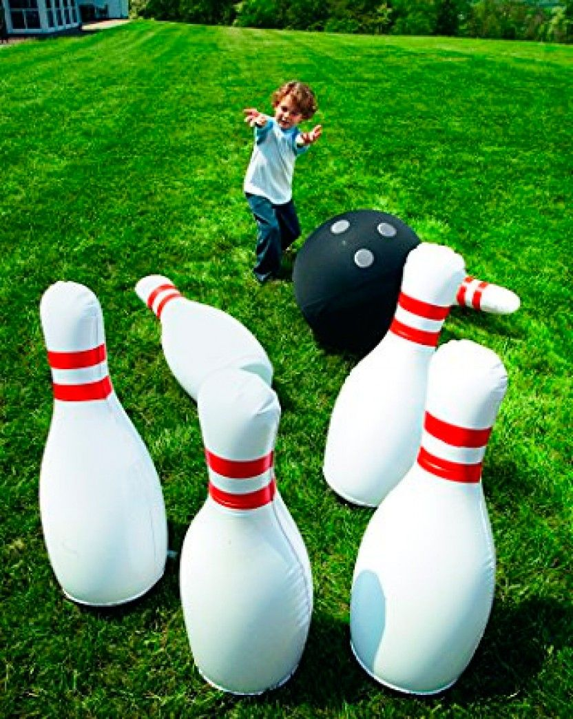 Yinarts Giant Inflatable Bowling Set Can Be Played Indoor Or Outdoor Gift Idea For Kids Includes A Gia Yard Games For Kids Kids Party Games Wedding Games