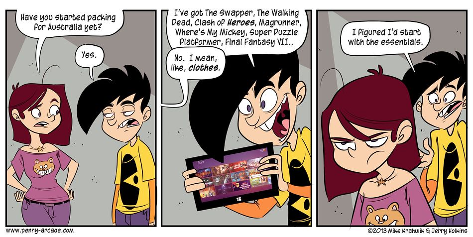 Penny arcade comic strip