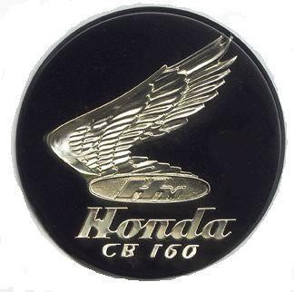 Cb160 Tank Badge Vintage Motorcycles Honda Motors Honda Bikes