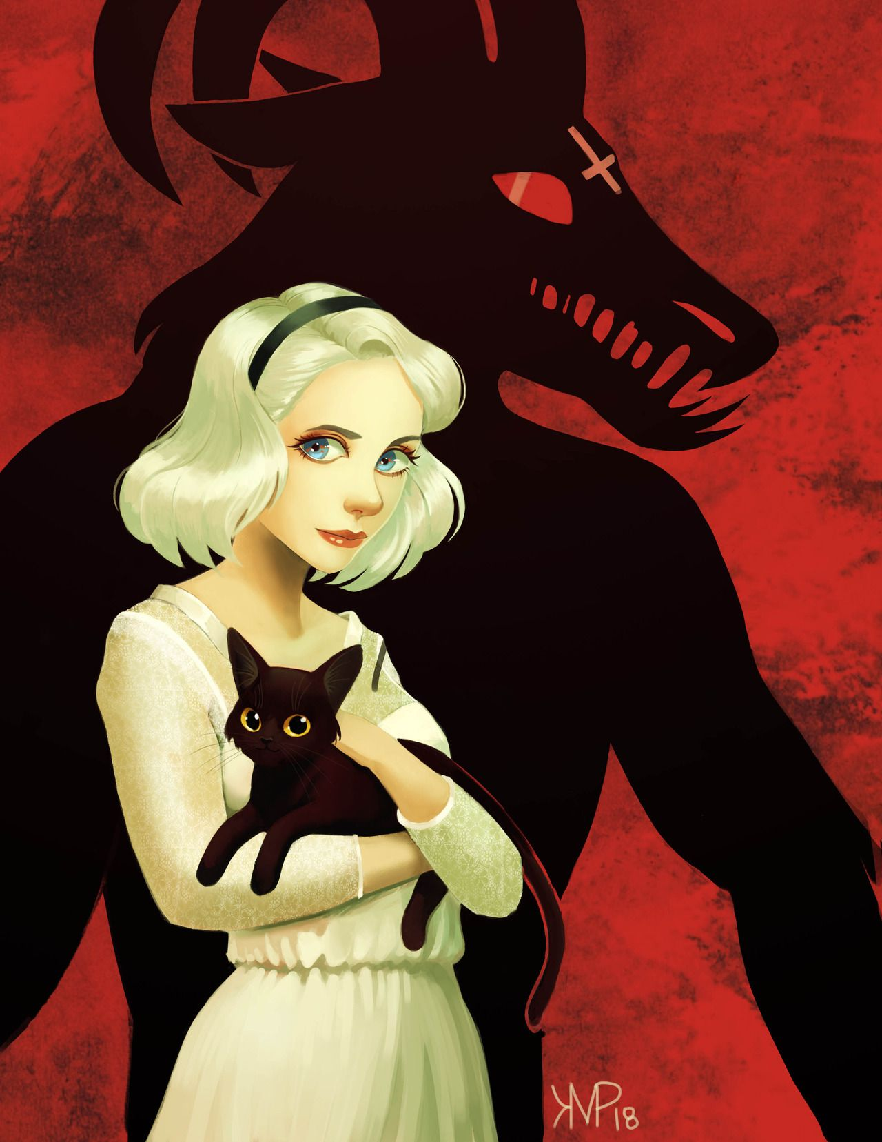 Had To Do Some Fan Art For Chilling Adventures Of Kristin Patoni Sabrina Spellman Sabrina Witch Sabrina