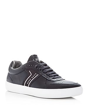 HUGO BOSS Men's Enlight Leather Lace Up Sneakers d69sm
