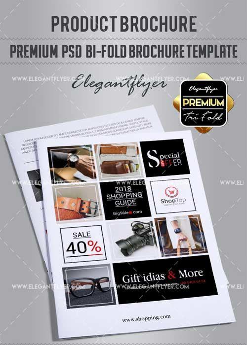Product Brochure V Premium BiFold PSD Brochure Template Free - Psd brochure template free download