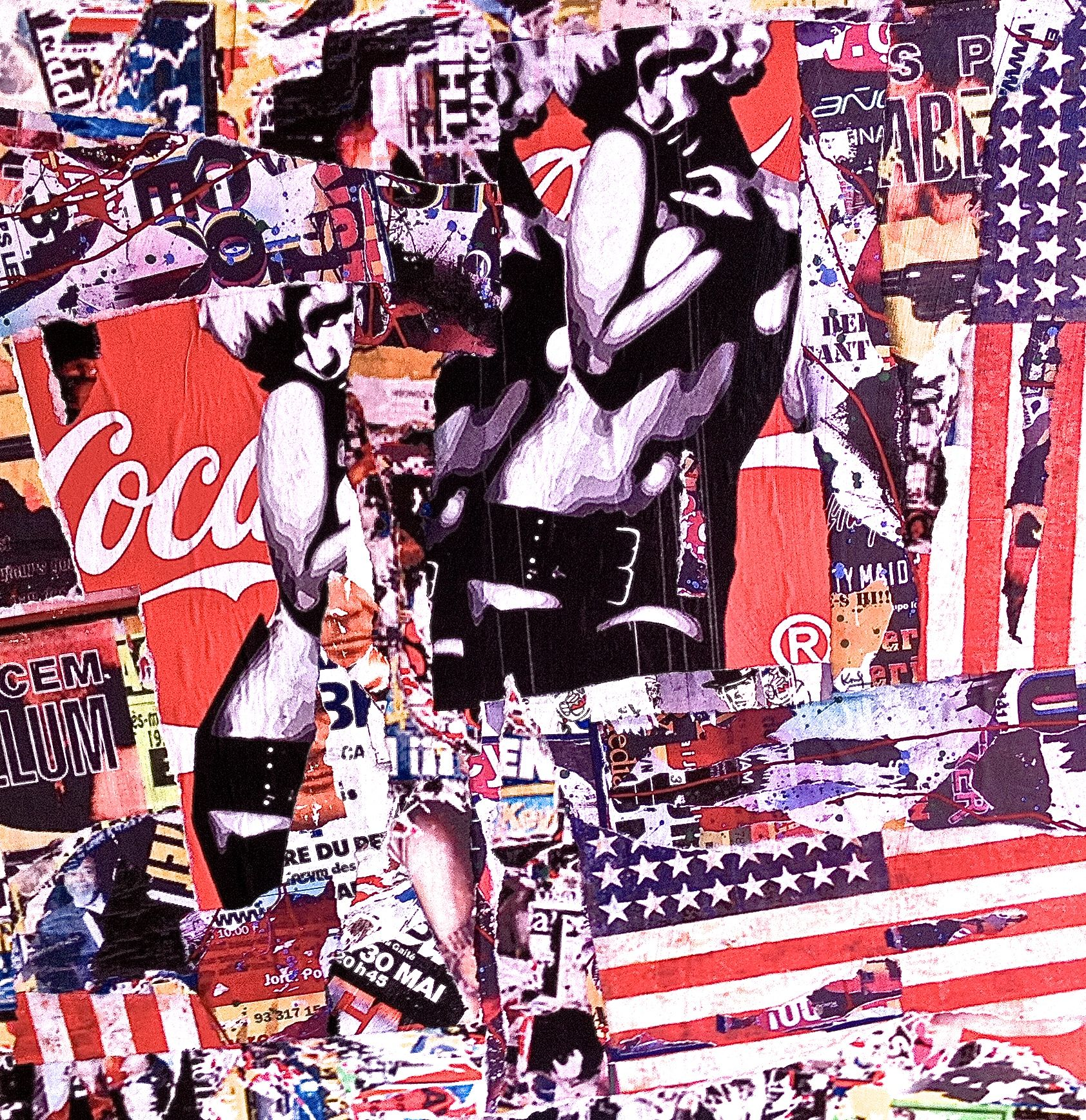 coca cola usa street art pop art collage affiche new york andy warhol basquiat. Black Bedroom Furniture Sets. Home Design Ideas