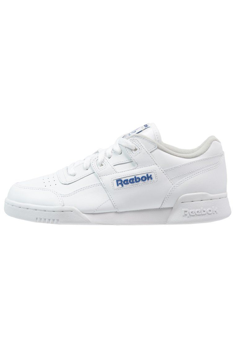 Reebok Classic WORKOUT PLUS - Sneaker - white/royal - Zalando.de