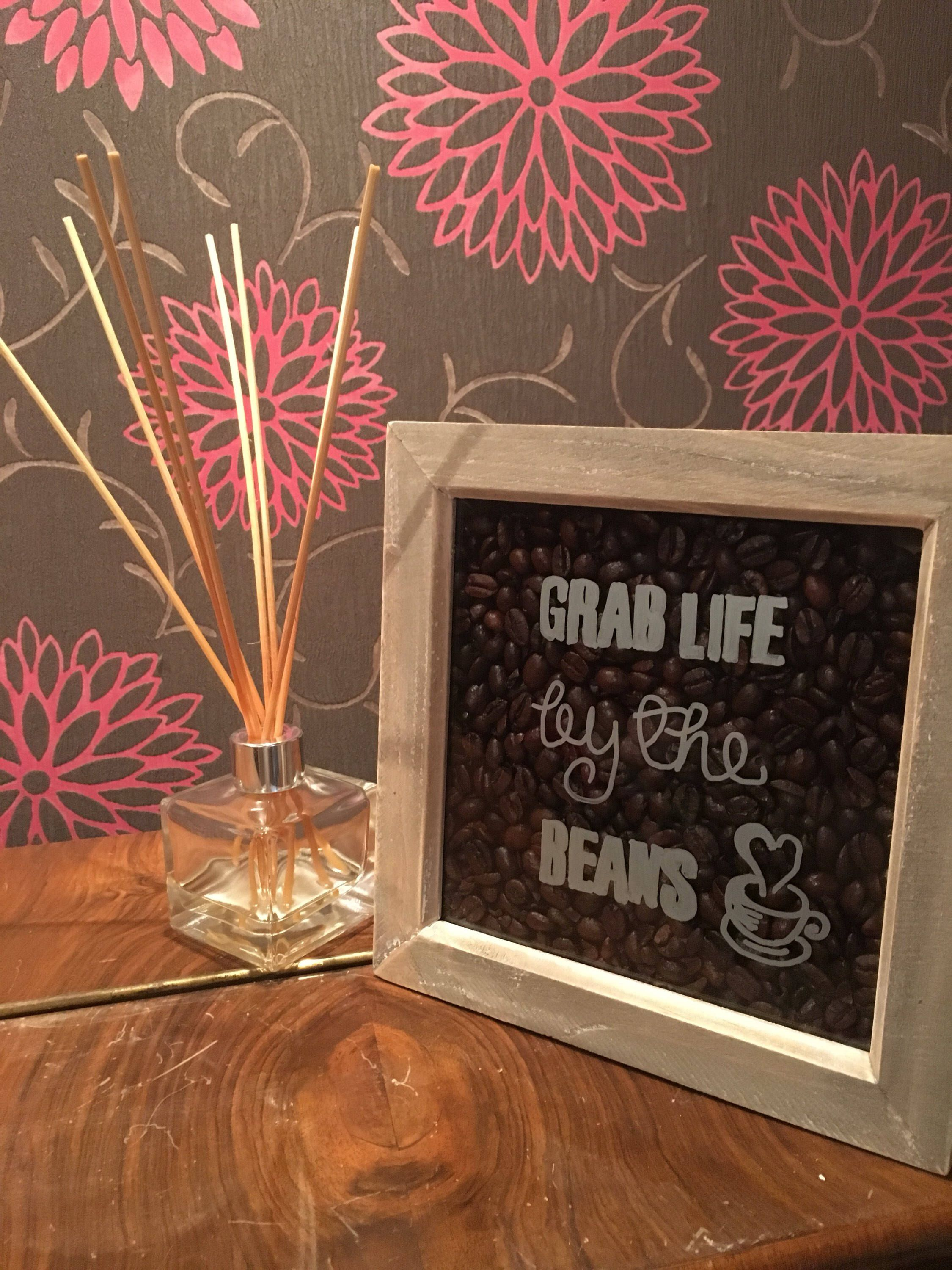 Grab life by the beans Frame by on Etsy