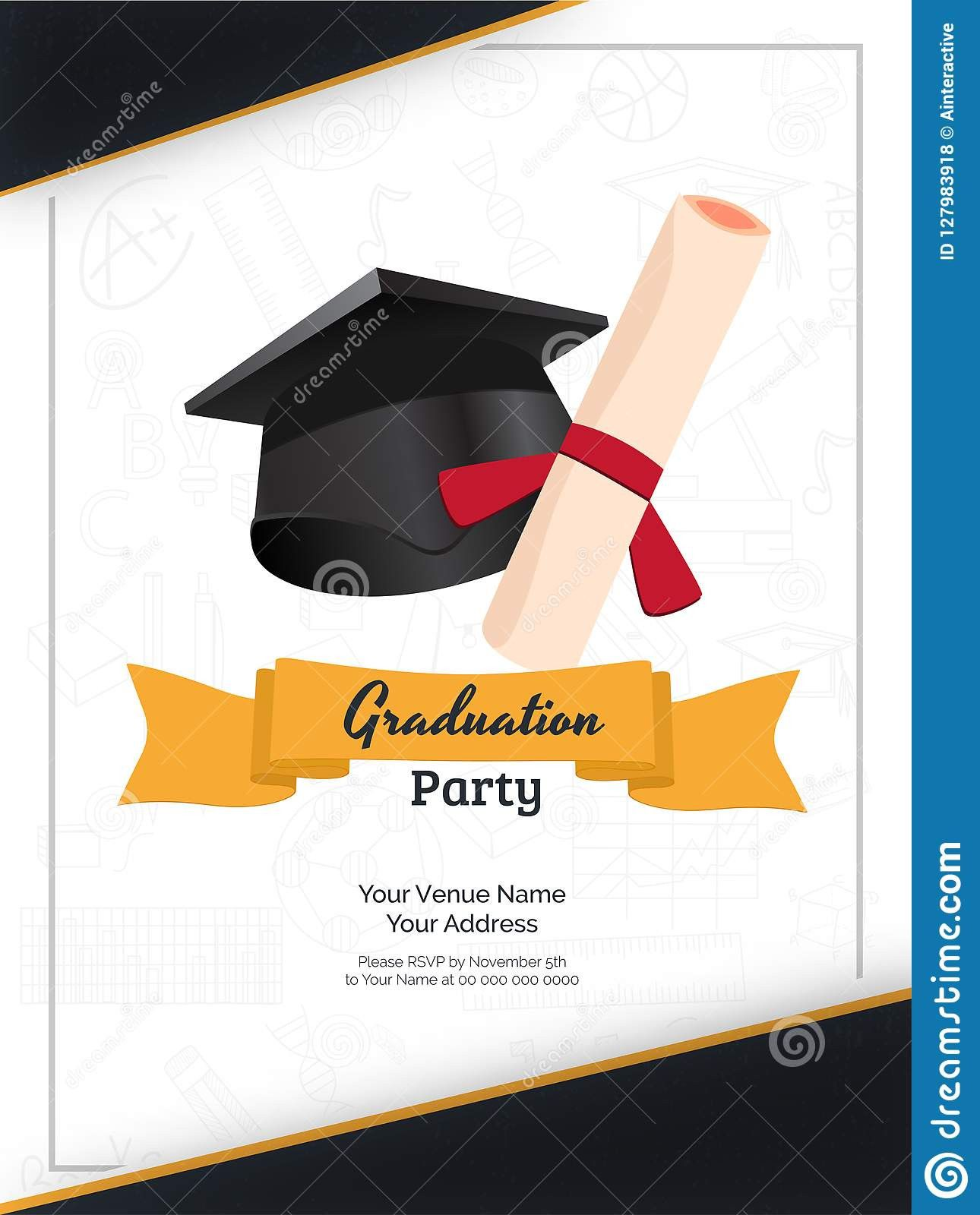 Graduation Name Cards Template Party Invite Template Graduation Party Invitations Templates Graduation Party Invitations