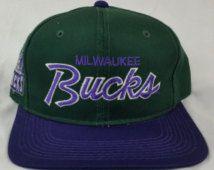 f656f13ed77 Milwaukee Bucks Vintage Snapback Starter Sports Specialties Logo Athletic  The Game Logo7 Pro Line Sharktooth Splash Script Rare Hat Cap