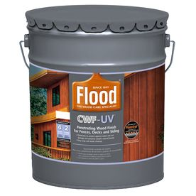 Flood Cwf Uv 5 Gallon Size Container Pre Tinted Cedar Toner Exterior Stain Actual Net Contents 640 Fl Oz Exterior Stain Wood Deck Stain Staining Deck