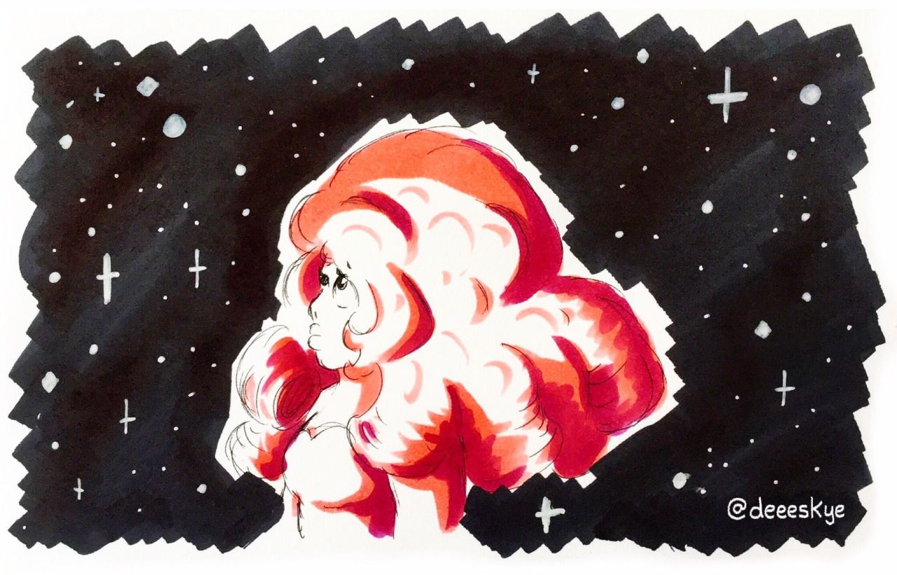 OP: deeeskye: Scribbly Rose Quartz doodle    Steven Universe