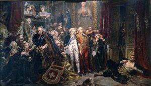 La Constitución del 3 de mayo de 1791 significó para Polonia una mejora en su administración, pero también el fin de la anarquía legislativa y gubernamental que permitía la influencia de Rusia. Los aristócratas polacos descontentos con la nueva constitución formaron la Confederación de Targowica, auspiciada por Rusia, y en abril de 1792 lanzaron una revuelta contra la Constitución recién aprobada.