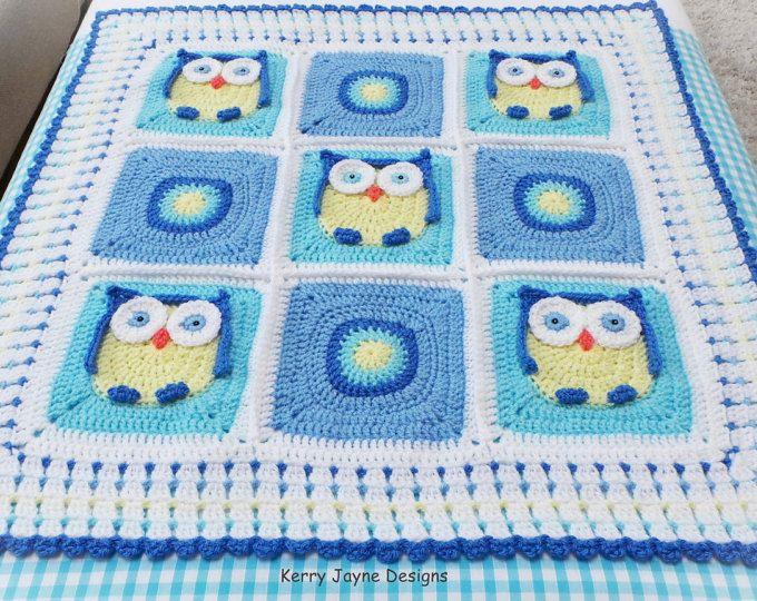 Crochet Baby Blanket Pattern Crochet Pattern Owl Blanket Baby