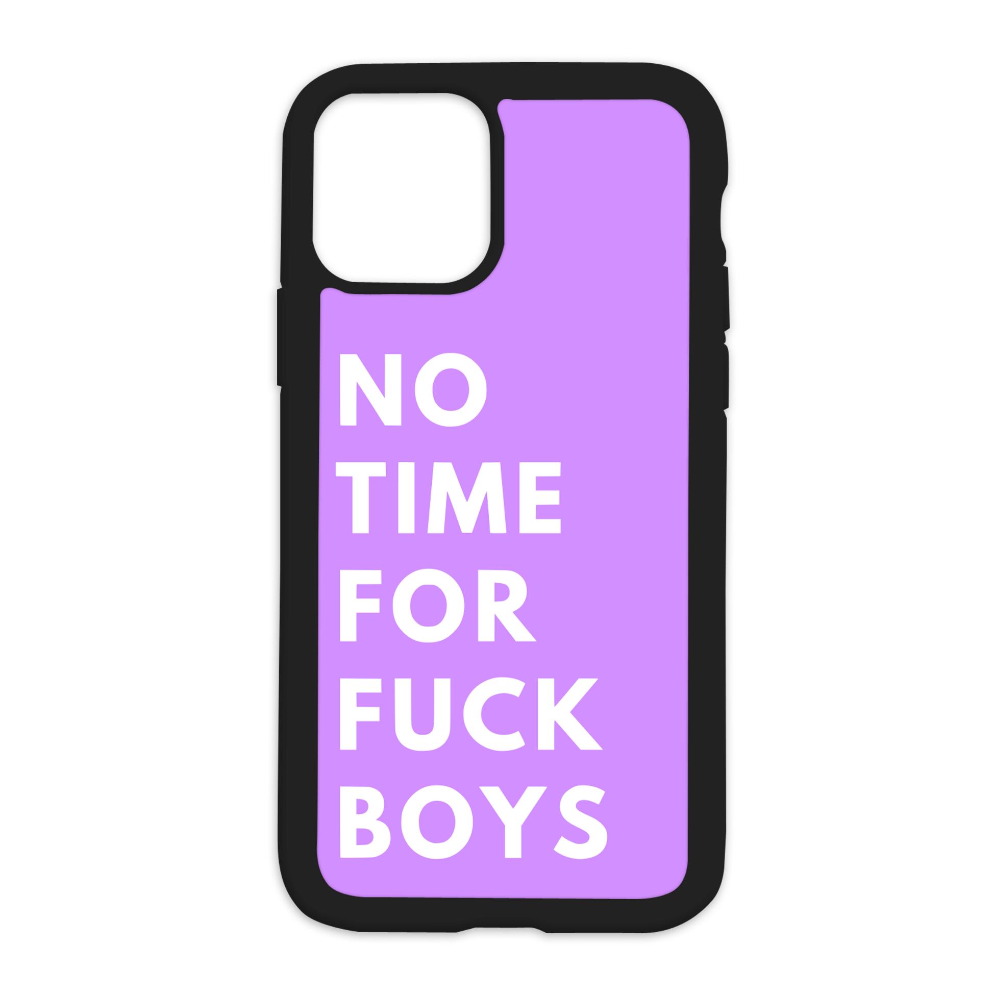 No Time For Fuck Boys Design On Black Phone Case - 7/8SE/2020 / Purple