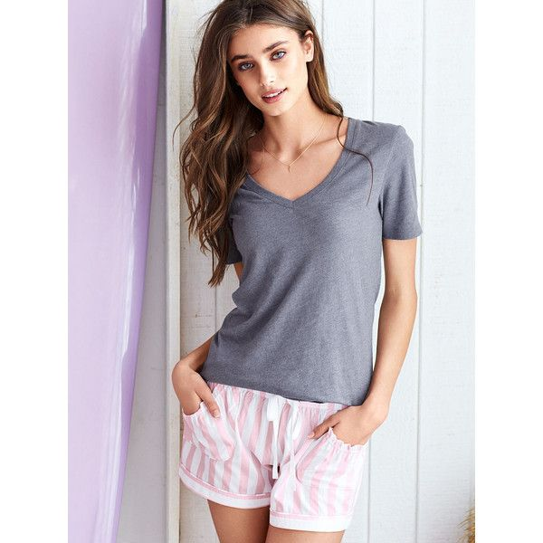 fe48c4fa8b4 Victoria s Secret The Mayfair Tee   Short Set ( 25) ❤ liked on Polyvore  featuring intimates