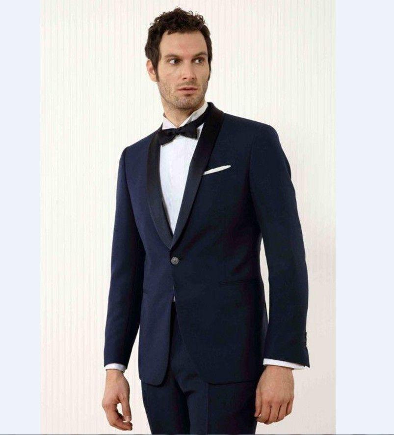 Groom Tuxedos Lapel Best Man Wedding Suit | Men wedding suits and ...