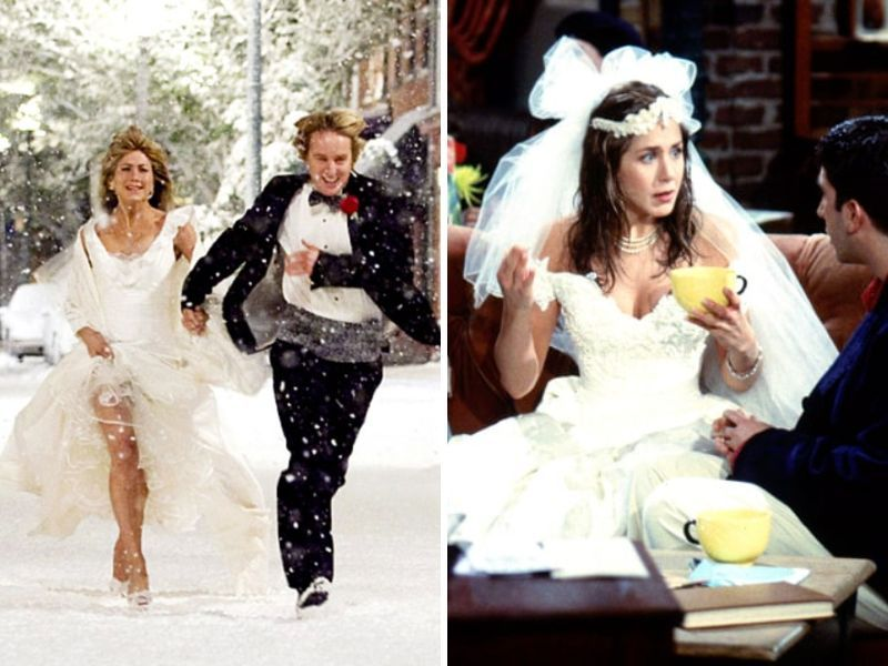 Her Wedding Dress Jennifer Aniston And Everafterguide