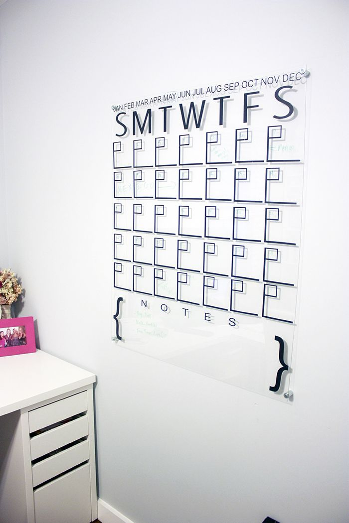 One Room Challenge Week 5 - DIY Acrylic Calendar Teaching