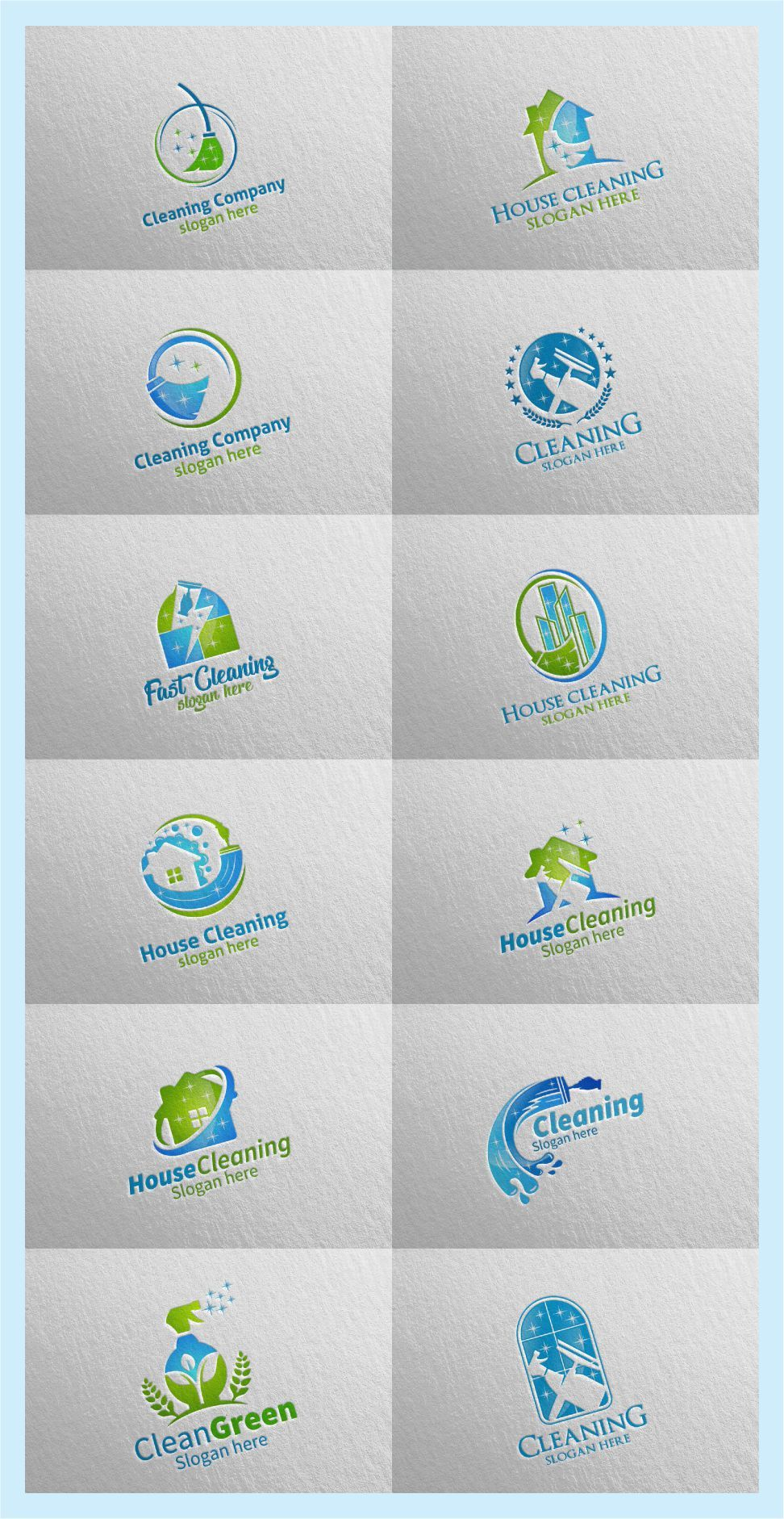 House Cleaning Service Logo Cleaning Service Logo Concept Hire Me