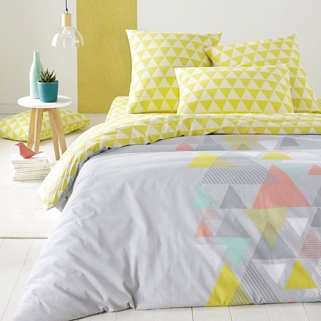 Piram Printed Cotton Duvet Cover Spare Room Decor Geometric Bedding Duvet Covers