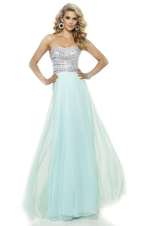 Popfashion beaded chiffon gown backless mermaid prom dress more