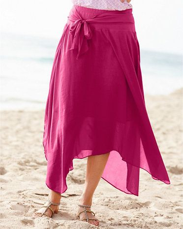 Silk & Cotton Layered Skirt