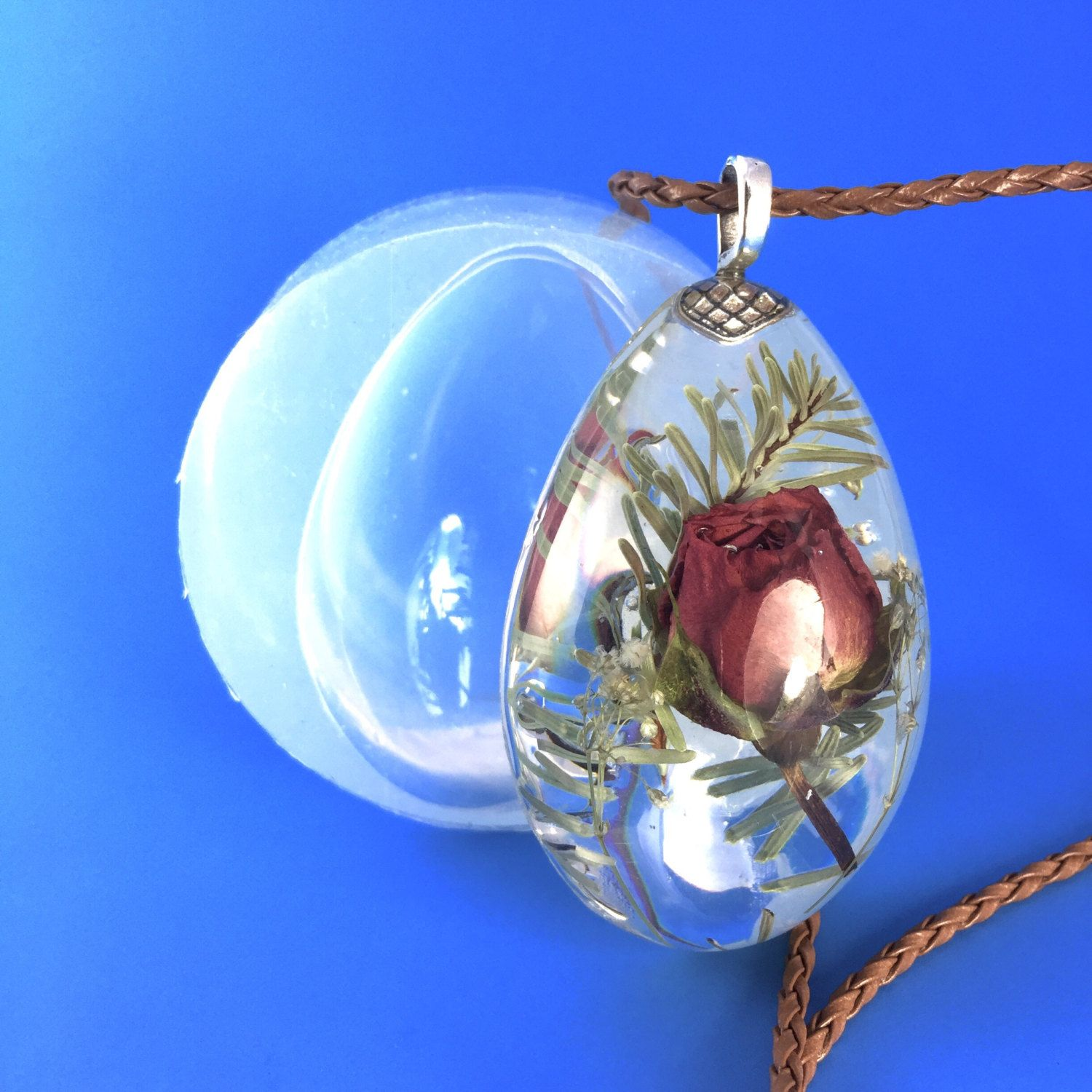 Clear Silicone Mold For Large Drop Pendant Create Your