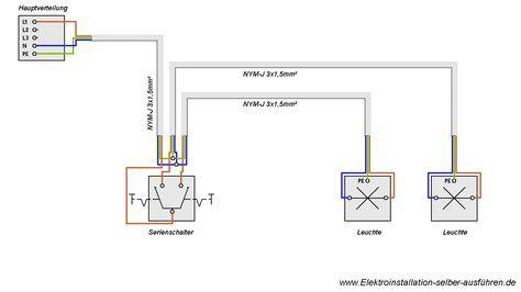 Schaltplan Einer Serienschaltung Nit Zwei Lampen Schaltplan Elektroinstallation Selber Machen Elektroinstallation