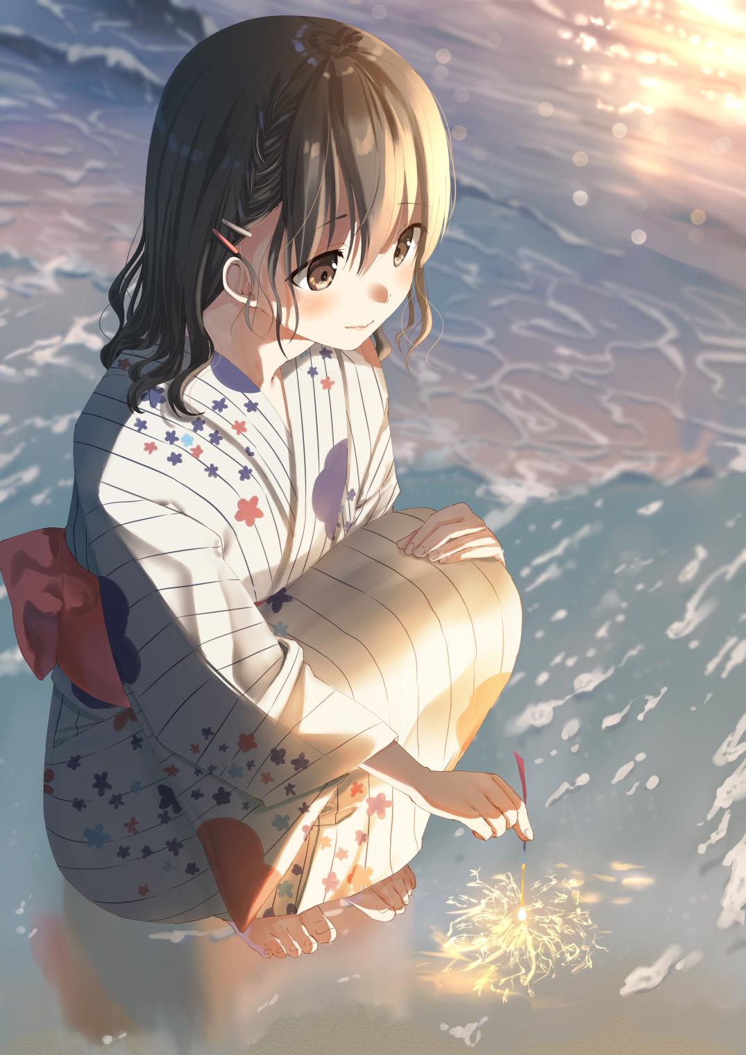 線香花火 くきはの作品 Pixiv アニメ着物 マンガアニメ 芸術的アニメ少女