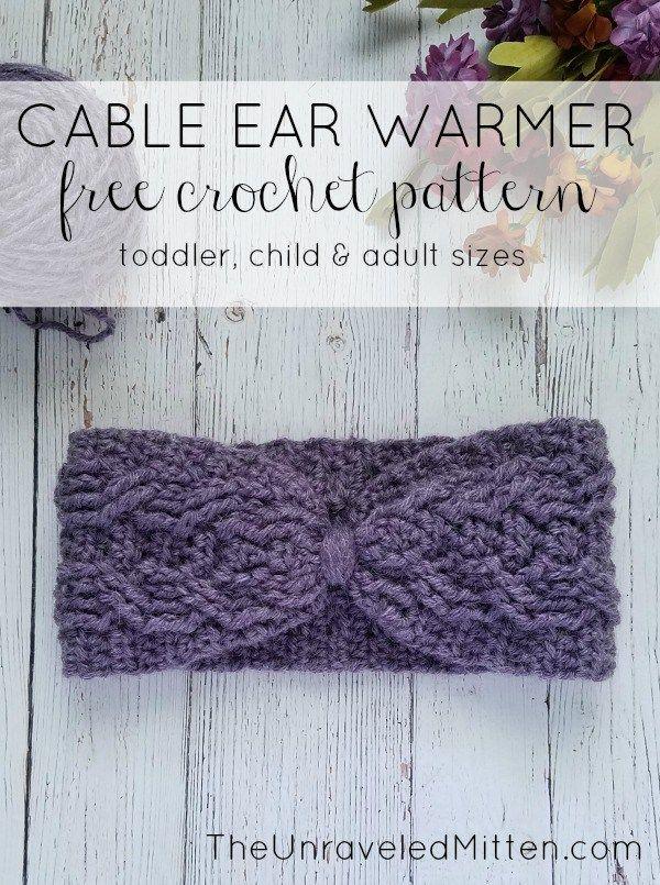 Easy Crochet Cable Ear Warmer Free Pattern | Moogly Community Board ...