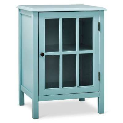 Windham One-Door Storage Cabinet Pewter Aqua - Threshold™ | Home ...