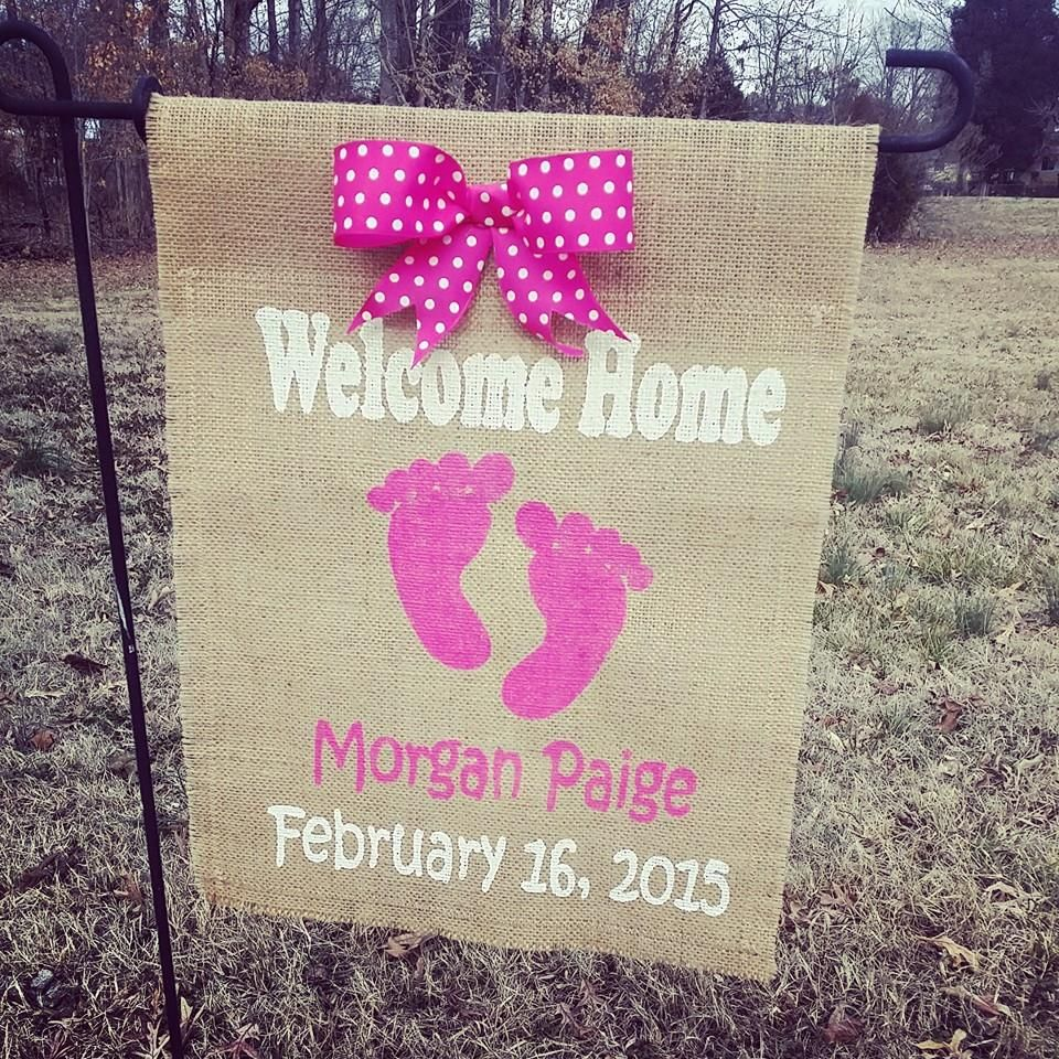 welcome home a precious baby girl or boy with a birth