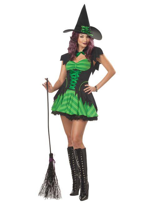 Dreamgirlz Waldhexe Damen Kostum Poser Karneval Halloween