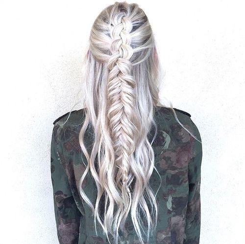 Black Blonde Hair Braid Braids Girl Girls Green