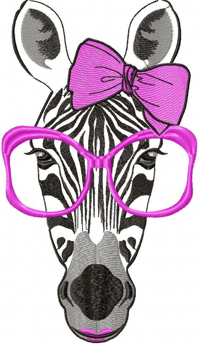 Zebra free embroidery design - Animals free machine embroidery ...