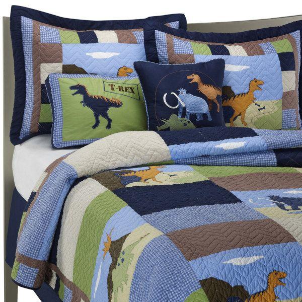 Best Dinosaur Quilt Set 100 Cotton Bed Bath Beyond For 400 x 300