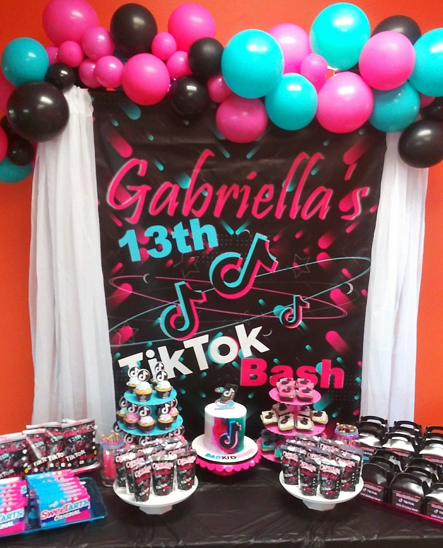 Tik Tok Dessert Table Birthday Surprise Party Birthday Party Set Bday Party Kids